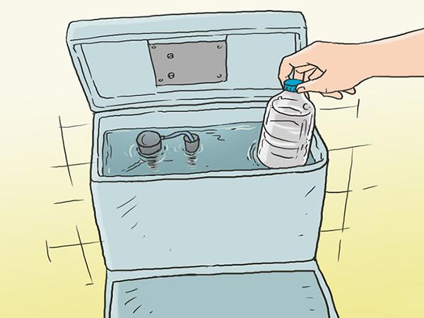 Giảm thể tích nước chứa trong két nước bồn cầu