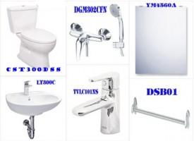 Bộ sản phẩm thiết bị vệ sinh Toto dành cho nhà trọ với chi phí rẻ nhất