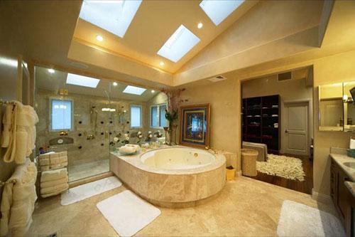 thiết kế nhà tắm với thiết bị vệ sinh toto