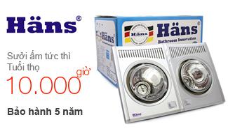 Đèn sưởi phòng tắm Hans
