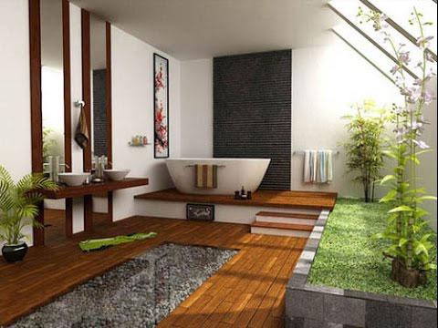 Phòng tắm gần gũi với thiên nhiên