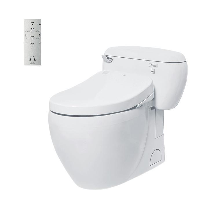 Bàn cầu một khối ToTo MS366W4 kèm nắp rửa điện tử washlet tcf4731a (220V)