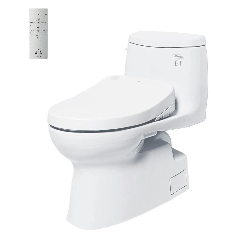 Bàn cầu một khối ToTo MS905W4 kèm nắp rửa điện tử washlet tcf4731a (220V)